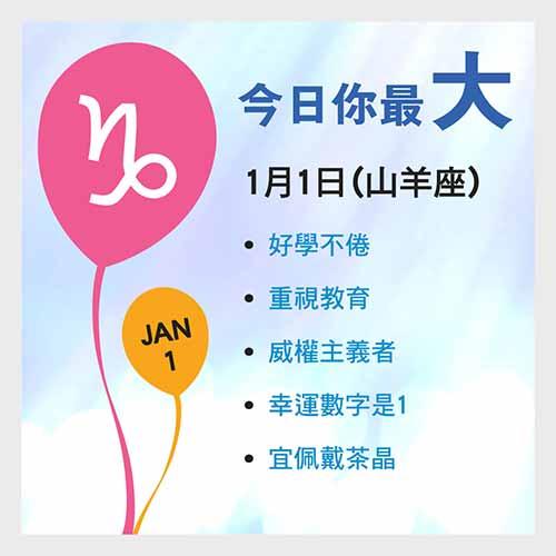 1月1日生日密碼