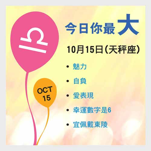 10月15日生日密碼