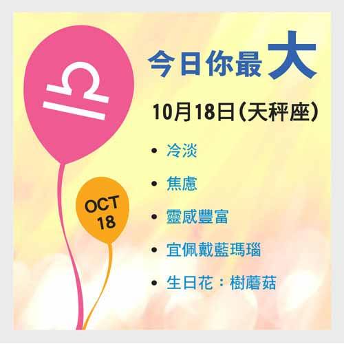 10月18日生日密碼