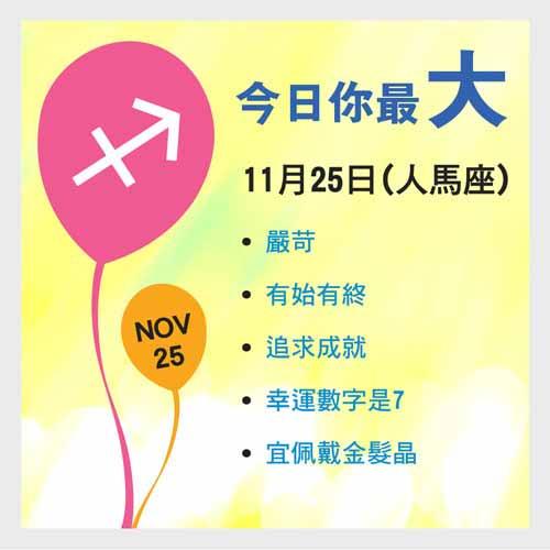 11月25日生日密碼