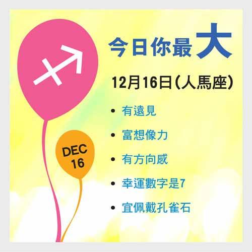 12月16日生日密碼